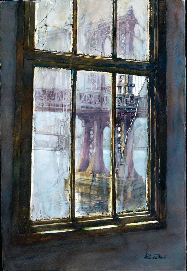 600x869 Watercolor Window Think Big Paint Big Web Features Blogs Artist