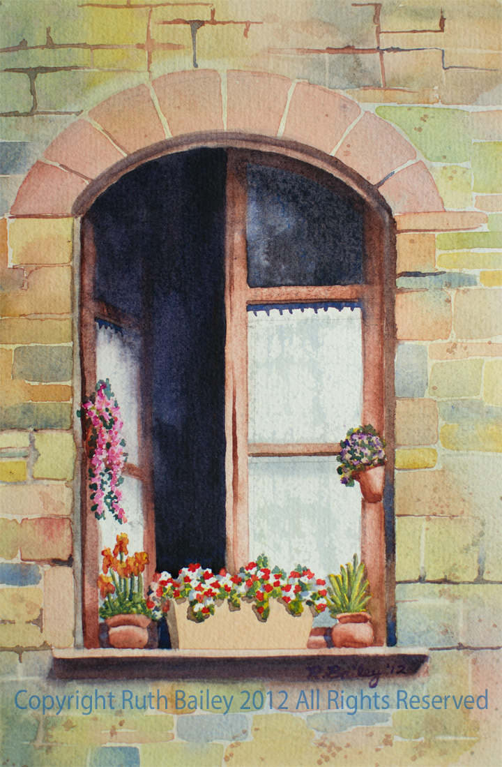 720x1099 Window In Assisi Ruth Bailey, Artist