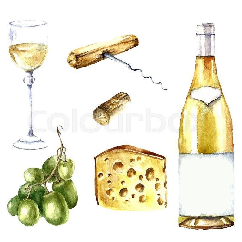 Watercolor Wine Bottle At Getdrawings Free Download