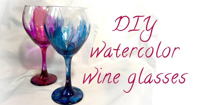 Watercolor Wine Glass