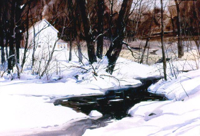 Watercolor Winter Snow Scenes at GetDrawings com | Free for