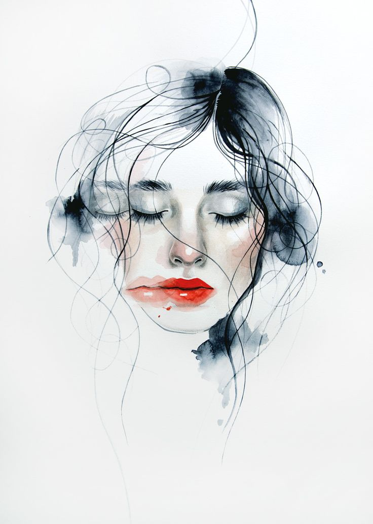 736x1032 Collection Of Watercolor Face Drawing High Quality, Free