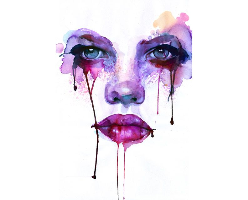 792x637 Watercolor Woman Faces By Marion Bolognesi Images