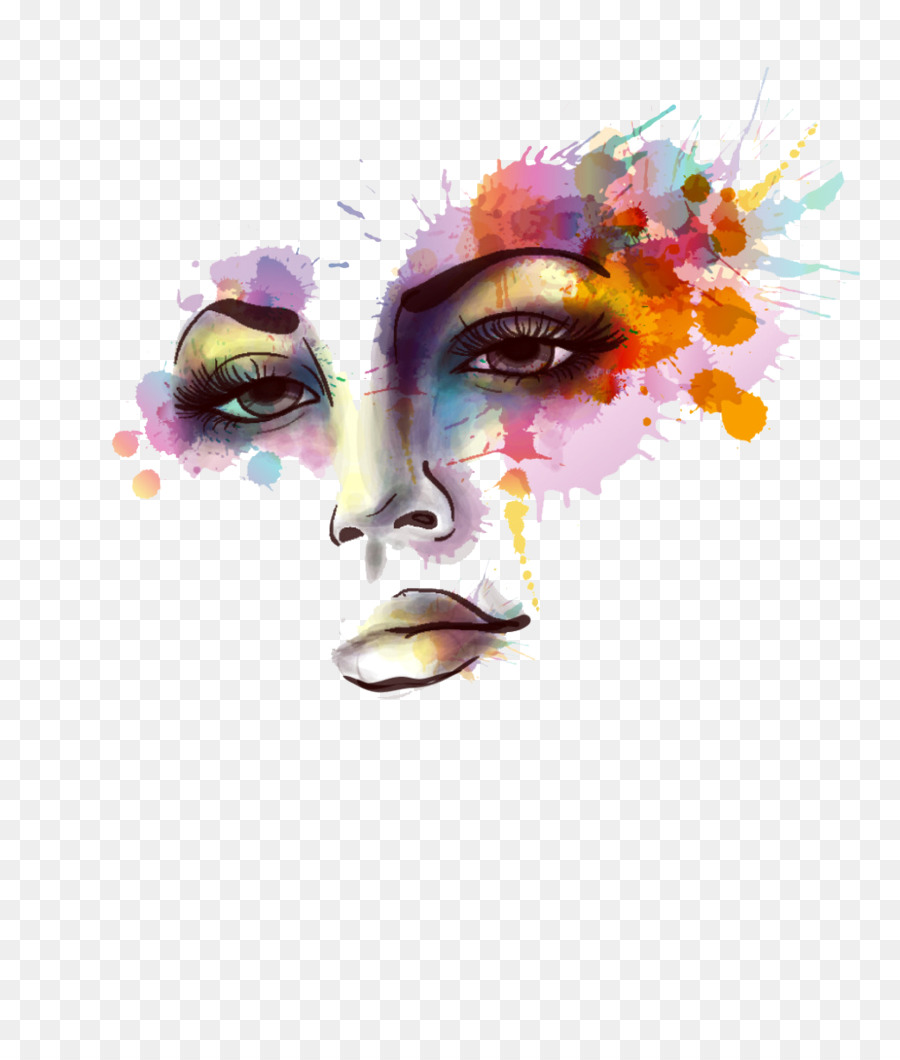 900x1060 Watercolor Painting Wall Decal