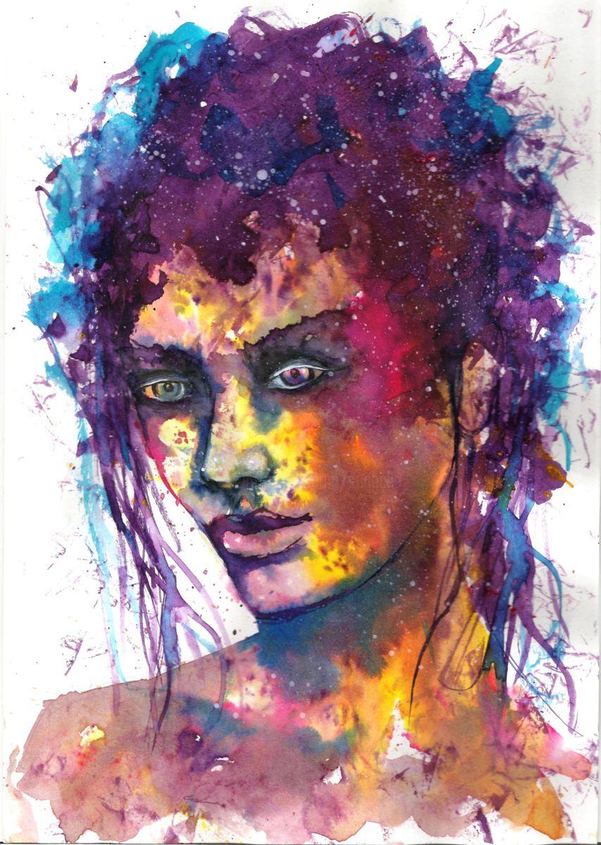 853x1200 Women Face Watercolour (Natalja Picugina)