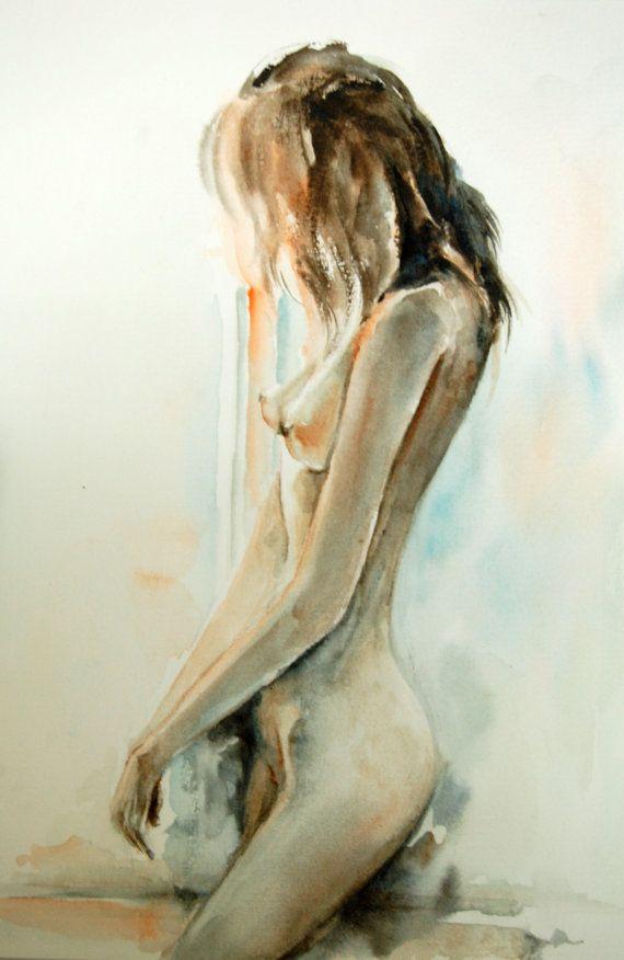 Watercolor Woman Figure