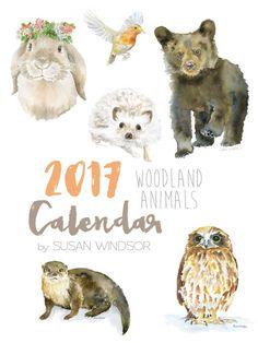 236x314 Woodland Animal Watercolor Prints