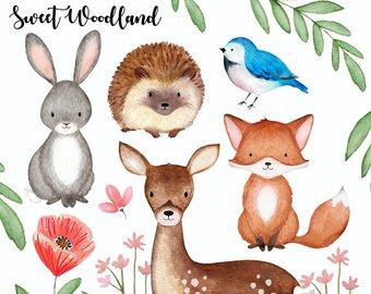 340x270 Woodland Watercolor Etsy