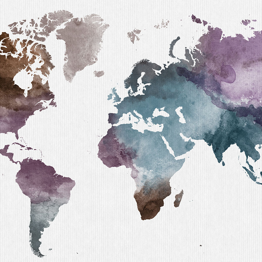 900x900 Watercolor World Map Poster Artprintsvicky