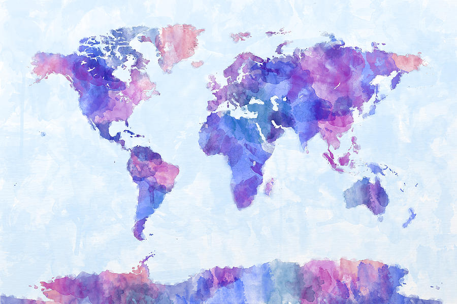 Urban Watercolor World Map.Watercolor World Map At Getdrawings Com Free For Personal Use