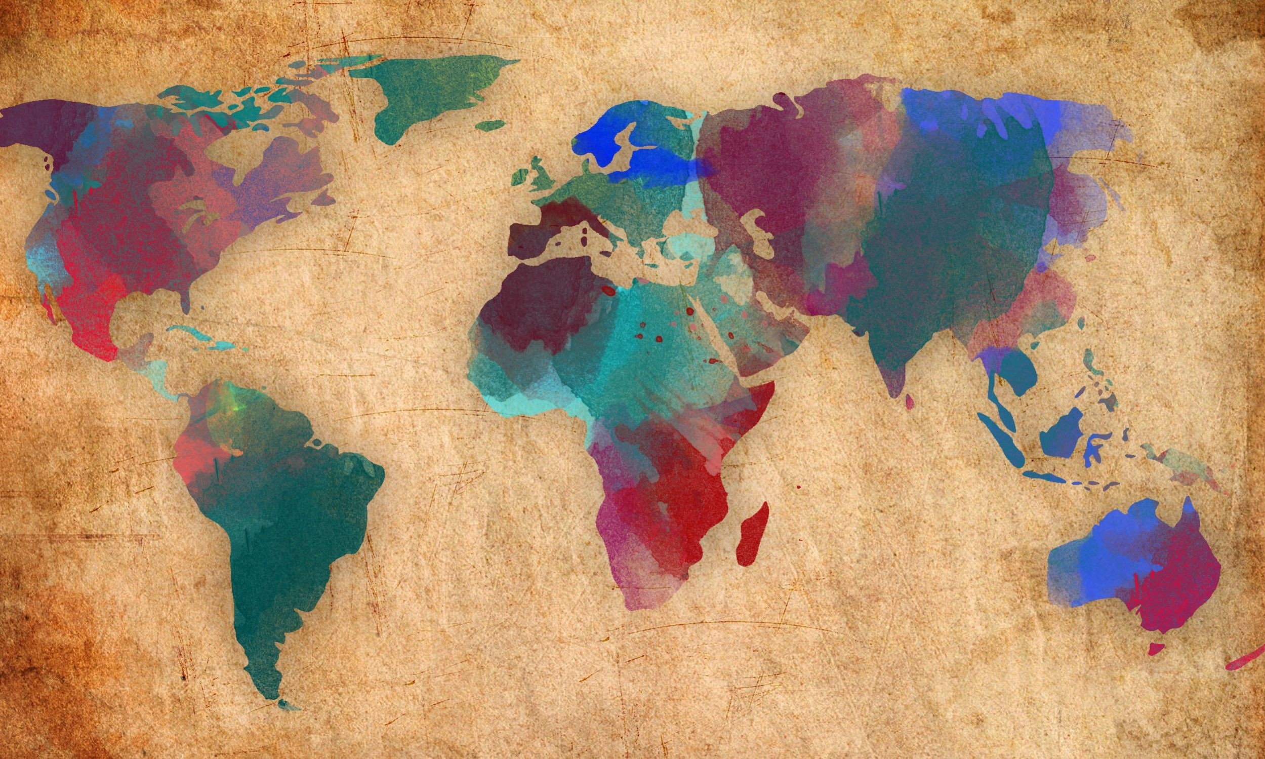 2499x1499 Wallpaper Of World Map Images)