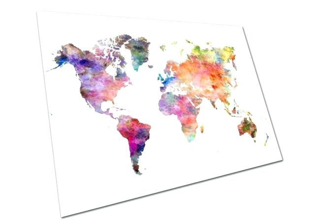 640x453 Watercolor Map Of The World Watercolor Map Of The World World Map