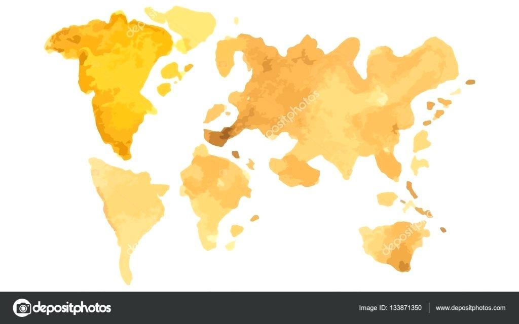 1024x640 Watercolor Map Of The World World Map Digital Art World Map