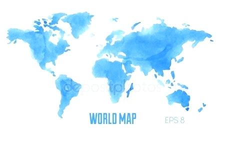 450x288 Watercolor World Map Wallpaper Africanplant