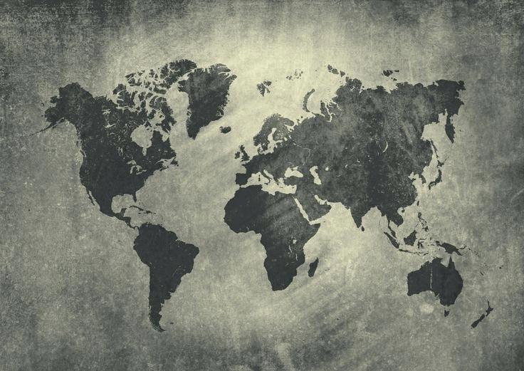 736x521 Black World Map Wallpaper Black White World Map Wallpaper World