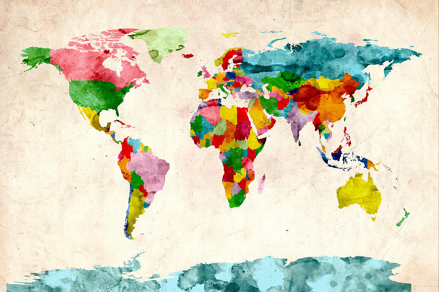 Urban Watercolor World Map.Watercolor World Painting At Getdrawings Com Free For Personal Use