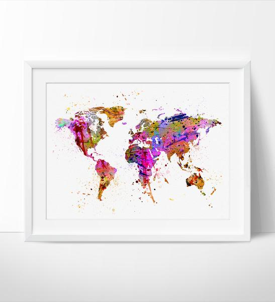 547x600 Abstract Painting, Abstract Art, Abstract Watercolor, World Map