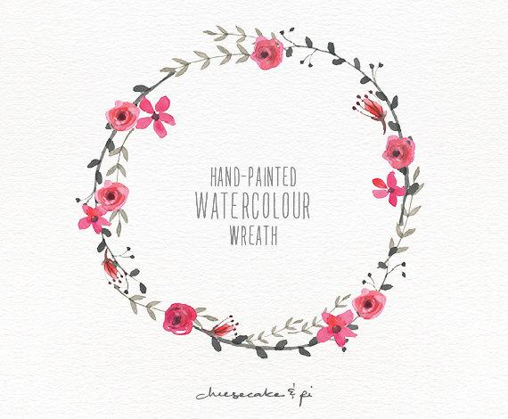Watercolor Wreath Clipart
