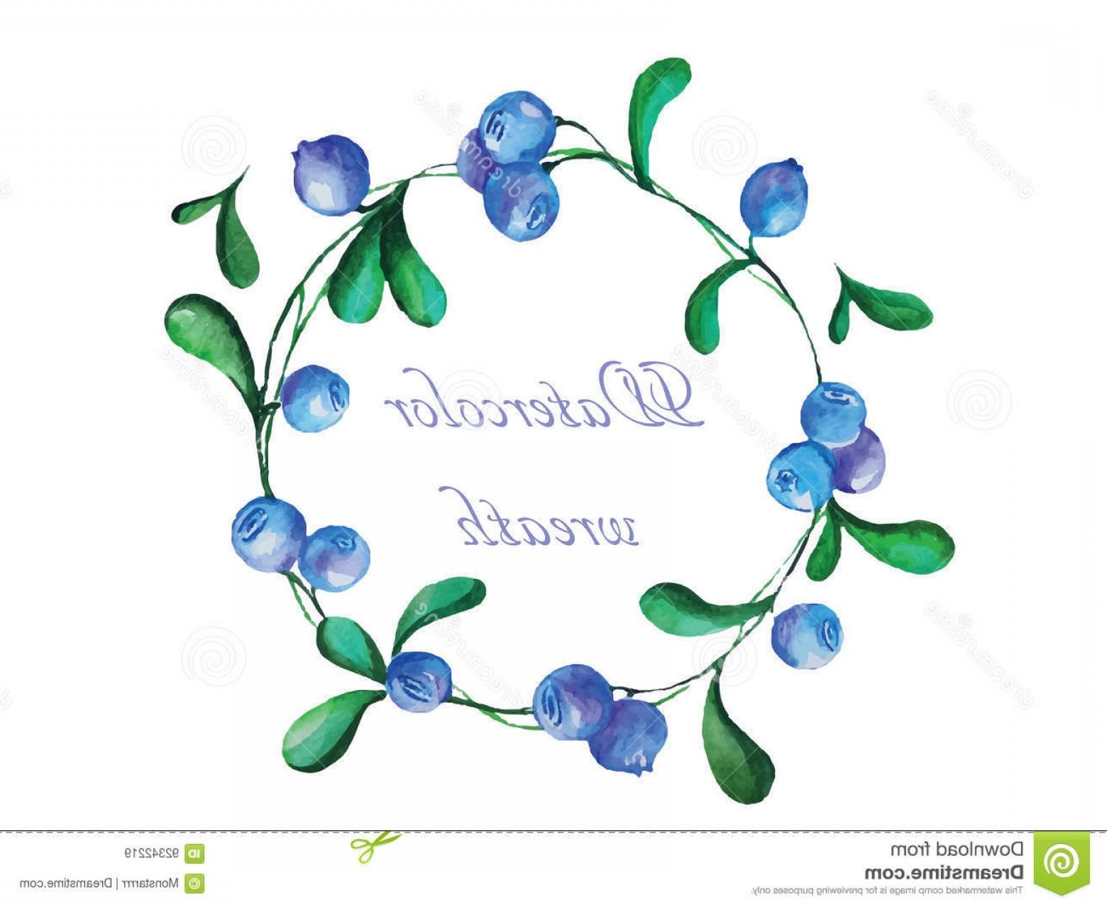 1560x1278 Stock Illustration Watercolor Wreath Vector Illustration Colorful