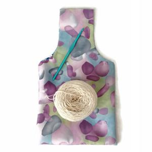 300x300 Small Yarn Bag Purple Watercolors And Blue, Purple And Yellow