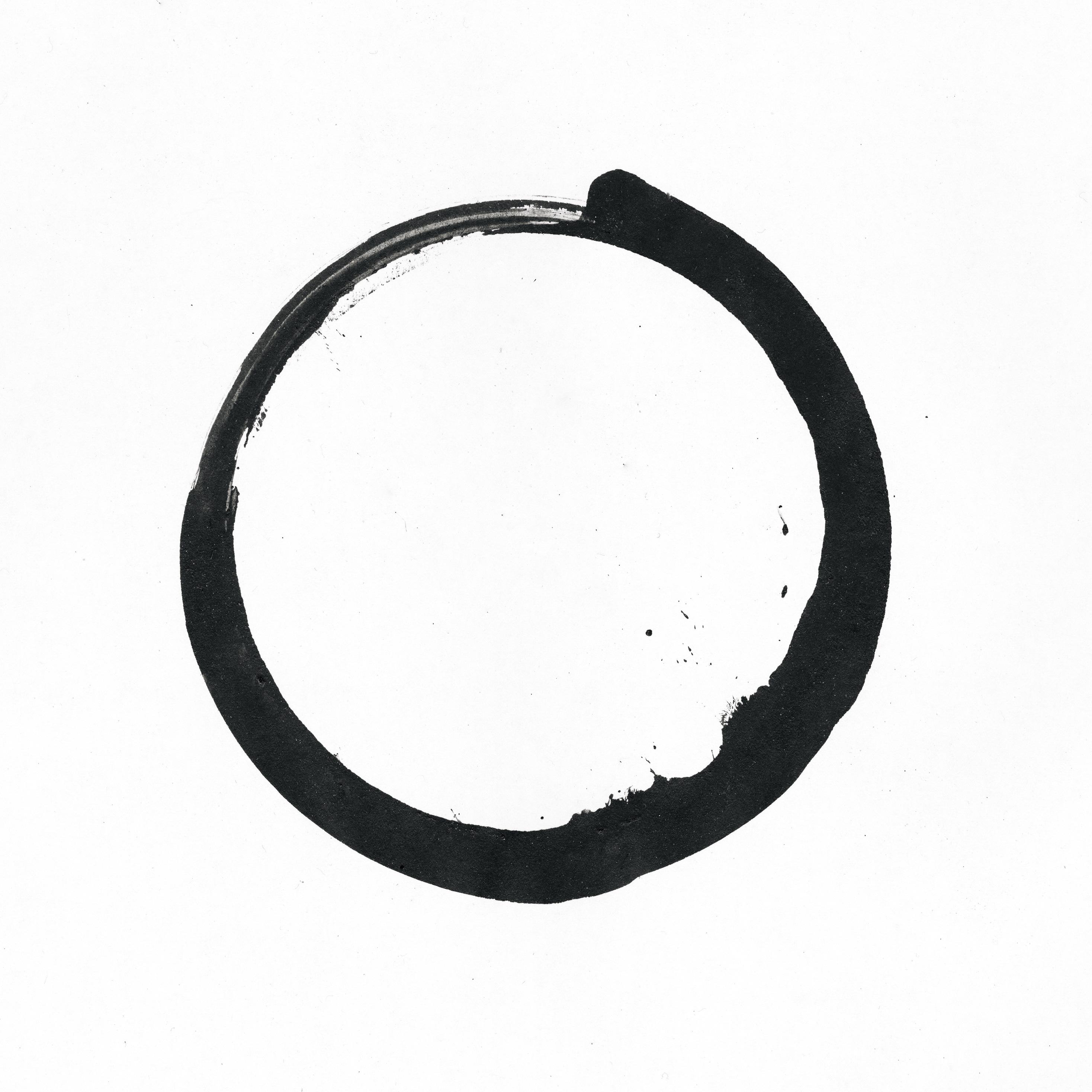 Watercolor Zen Circle