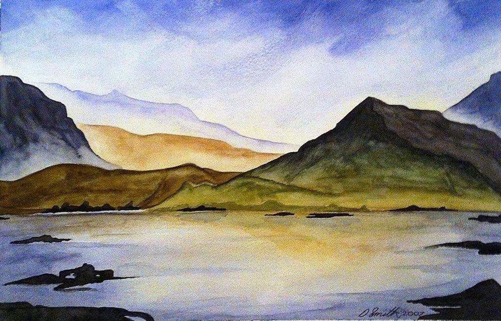 1024x656 Watercolour Landscape 2 By Demonfx1