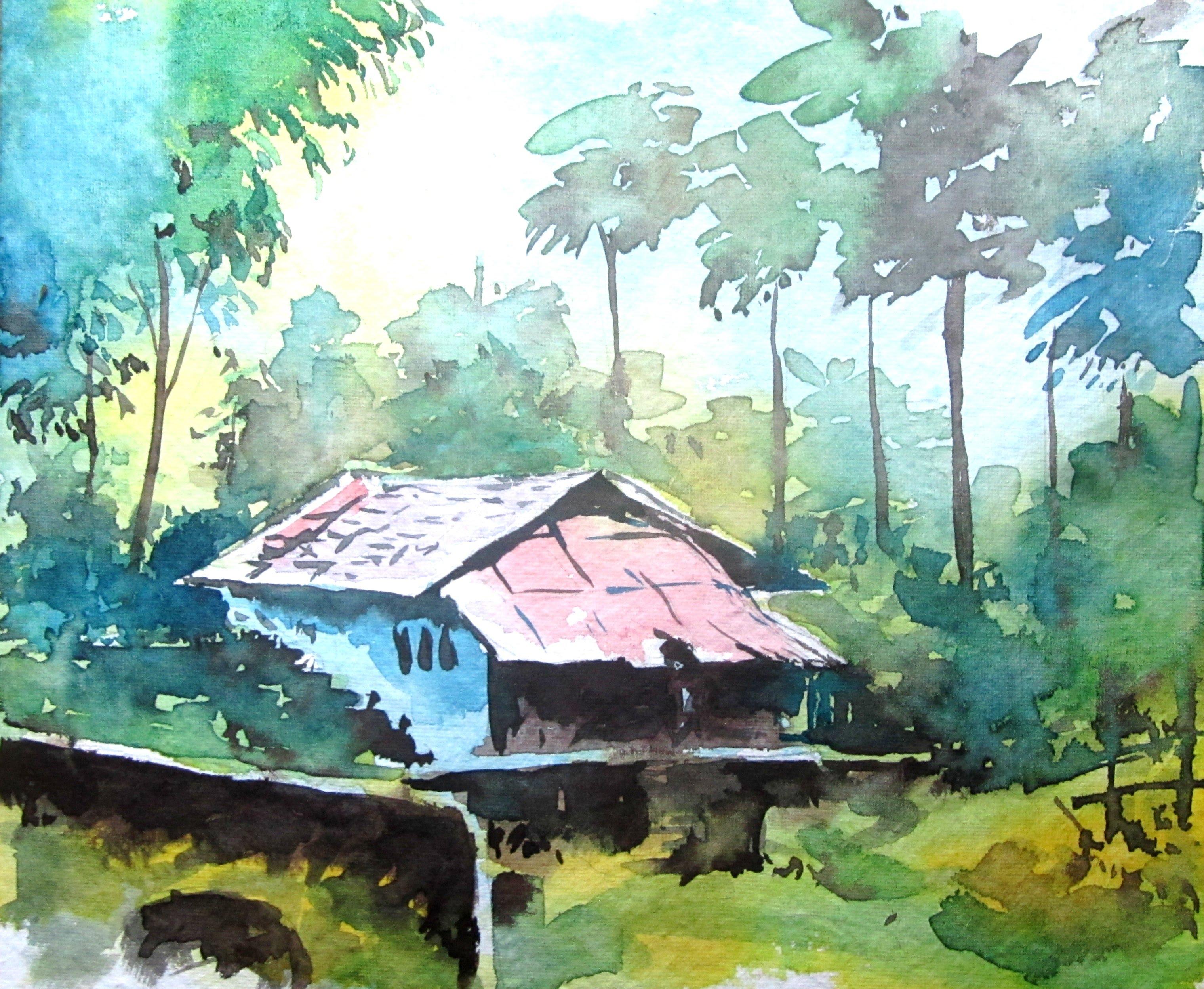 3040x2496 Watercolour Landscape Painting Tutorial Simple Landscape Painting