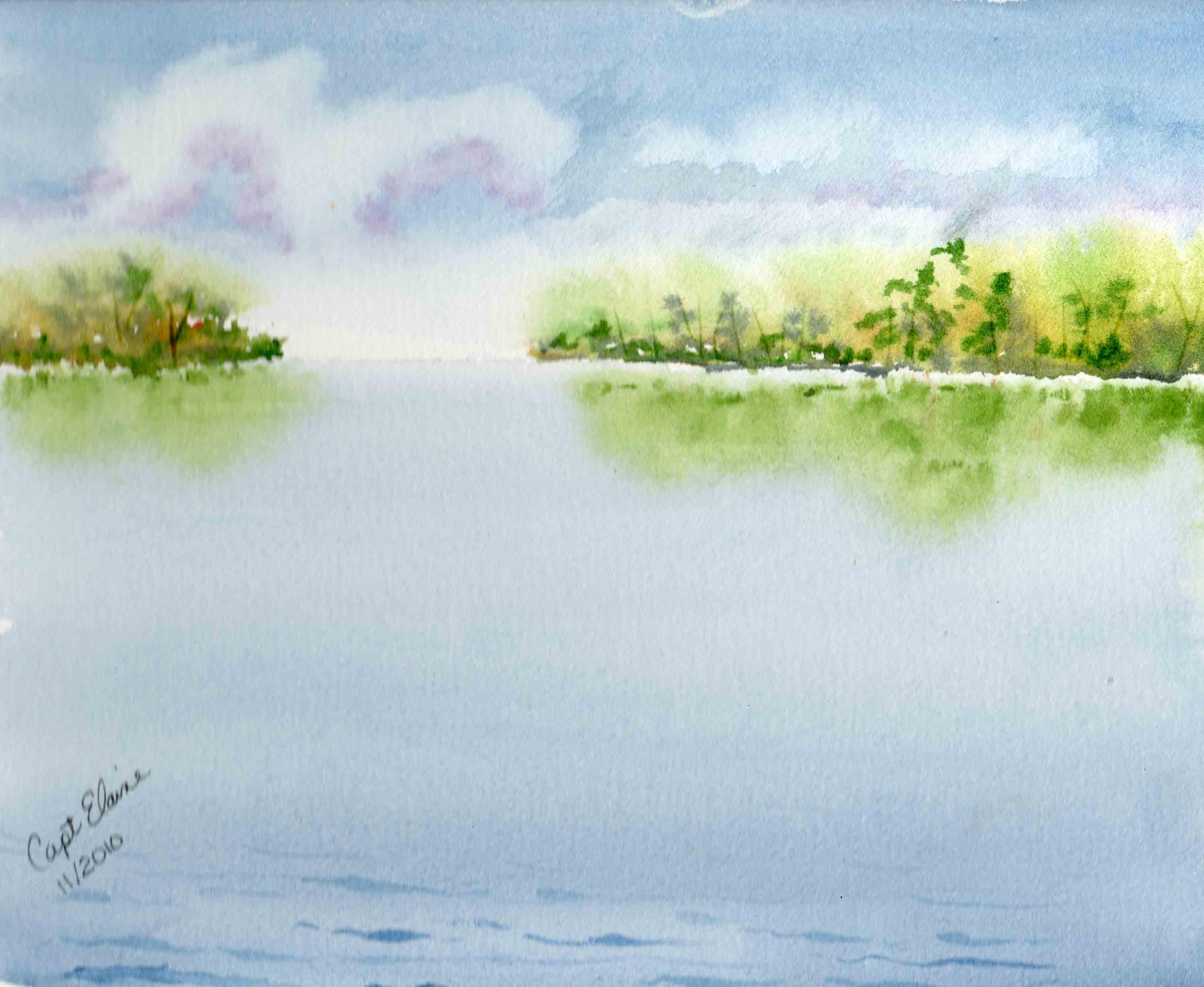 2989x2449 Watercolor 100 Landscapes