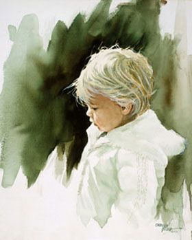 Watercolour Paintings Of Children