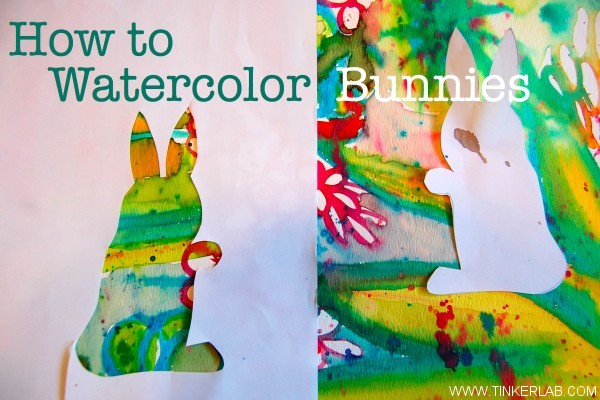 600x400 How To Watercolor Bunnies With Kids Tinkerlab