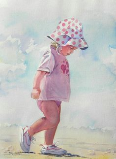 236x323 Nursery Wall Art, Beach Girl Art Print, Beach Painting, Nursery