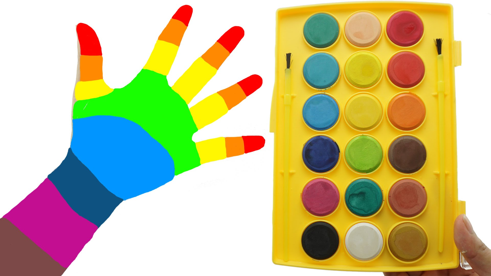 1920x1080 Play And Learn Colors With Watercolor Painting Fun Amp Creative