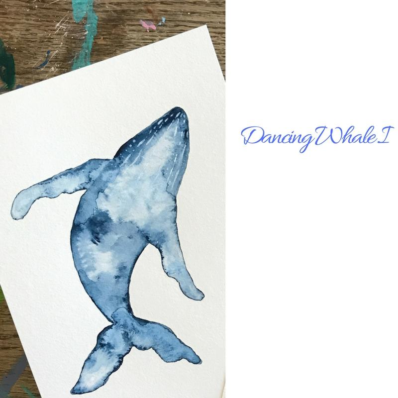 Whale Watercolor Painting