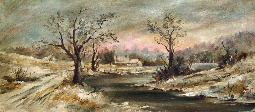 Winter Landscape Watercolor Paintings