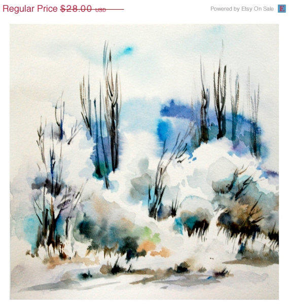 570x604 Holiday Sale Winter Landscape Art Print From Canotstopprints