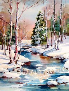 236x309 753 Best Winter Landscapes Images Water Colors