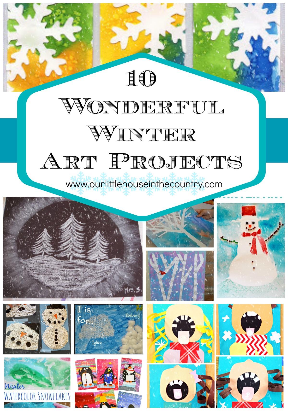 Winter Watercolor For Kids