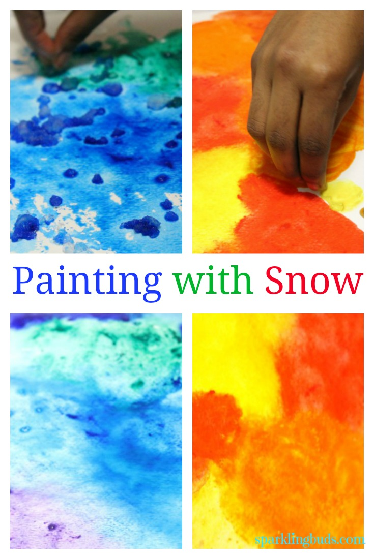 735x1100 Snow Painting With Kids, Painting With Snow With Kids