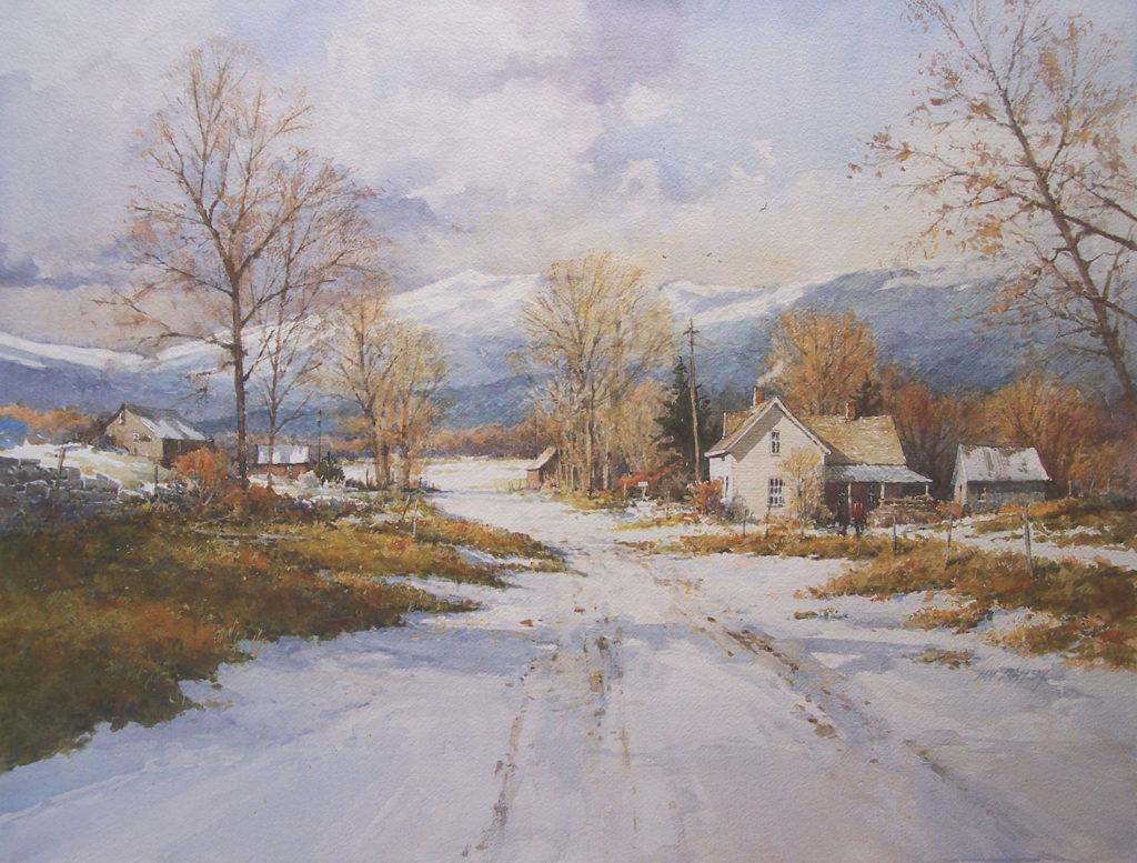 Winter Watercolor Paintings