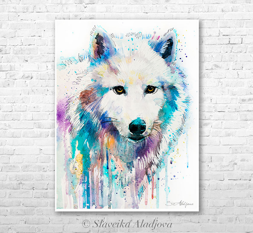 Wolf Painting Watercolor