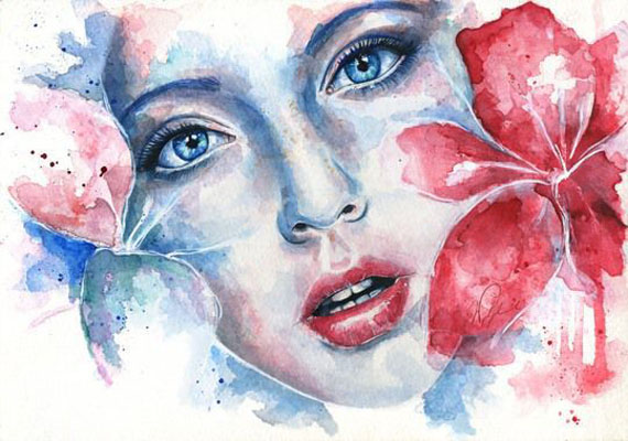 Woman Watercolor Paintings