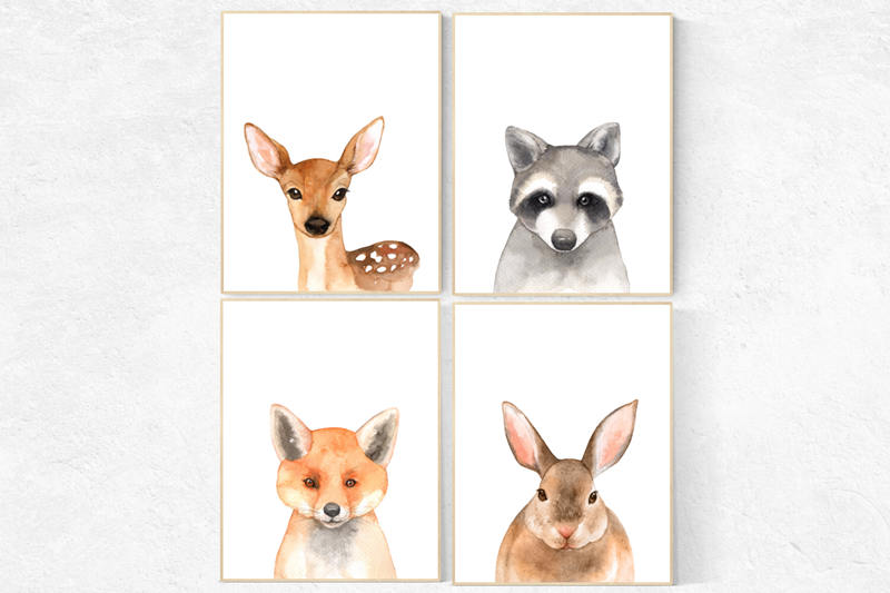 800x533 Nursery Decor Woodland Animals, Gender Neutral Nursery, Nursery