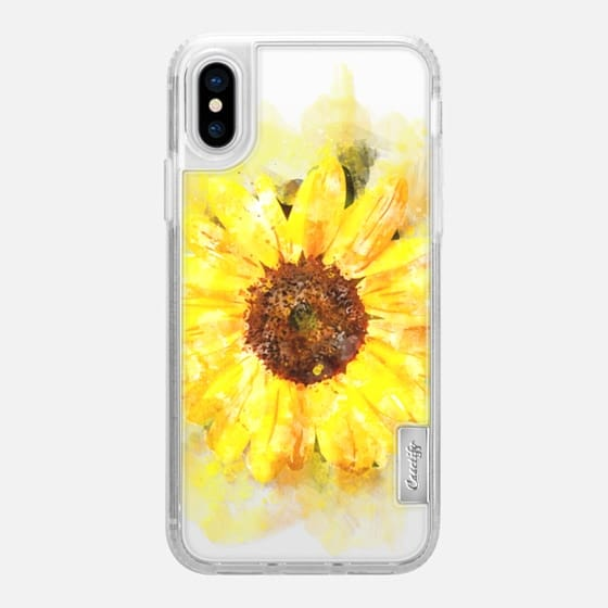 560x560 Sunflower Watercolor Floral Yellow Flower Casetify