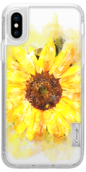 282x560 Sunflower Watercolor Floral Yellow Flower Casetify