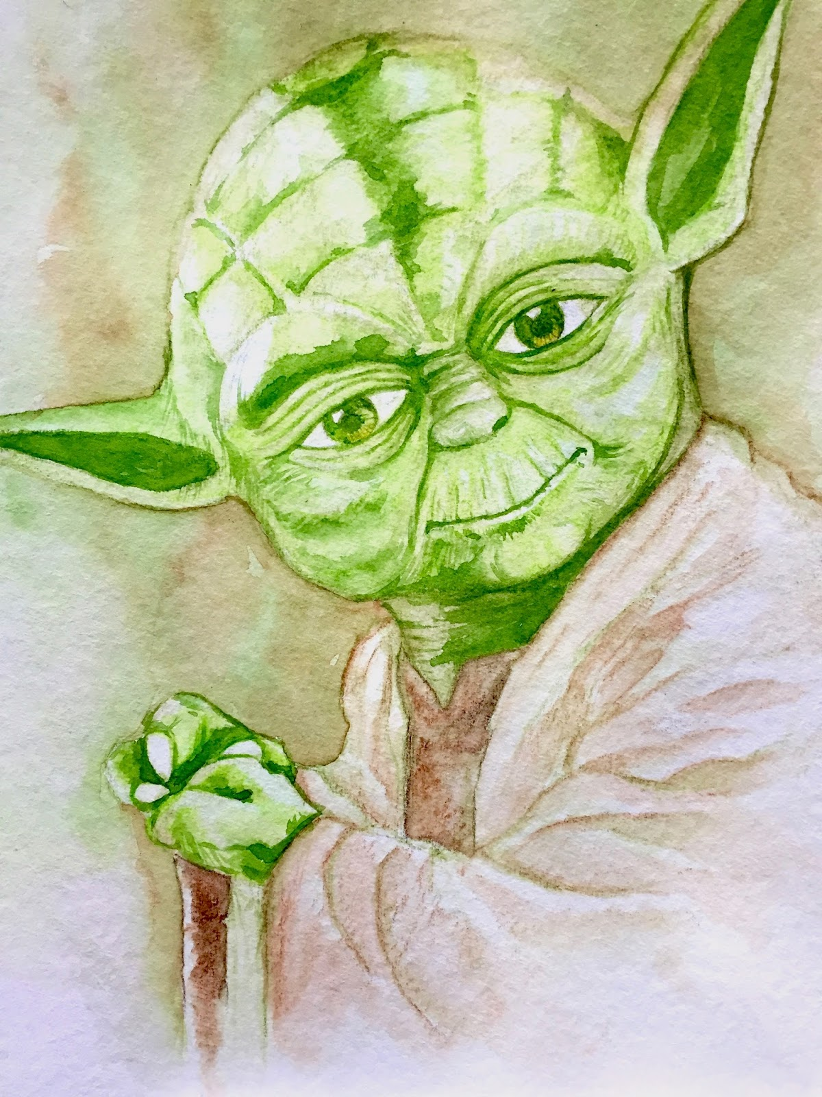 Yoda Watercolor At Getdrawings Com Free For Personal Use