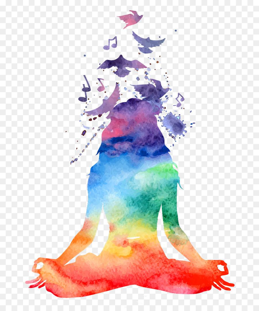 Yin Yang Tree of Life Watercolor Art Print Yoga Art Poster Celtic Tree Zen Art