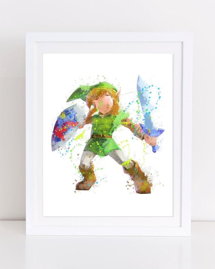 736x920 70% Legend Of Zelda Watercolor Zelda Watercolor Poster Etsy