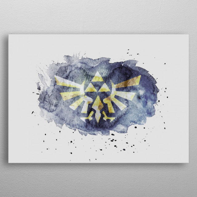 640x640 The Legend Of Zelda Triforce W... By Besse Metal Posters