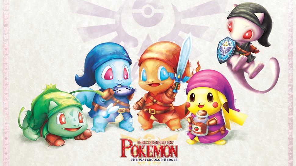 970x545 These Pokemon And Zelda Watercolor Mashups Are Perfect Nerdist