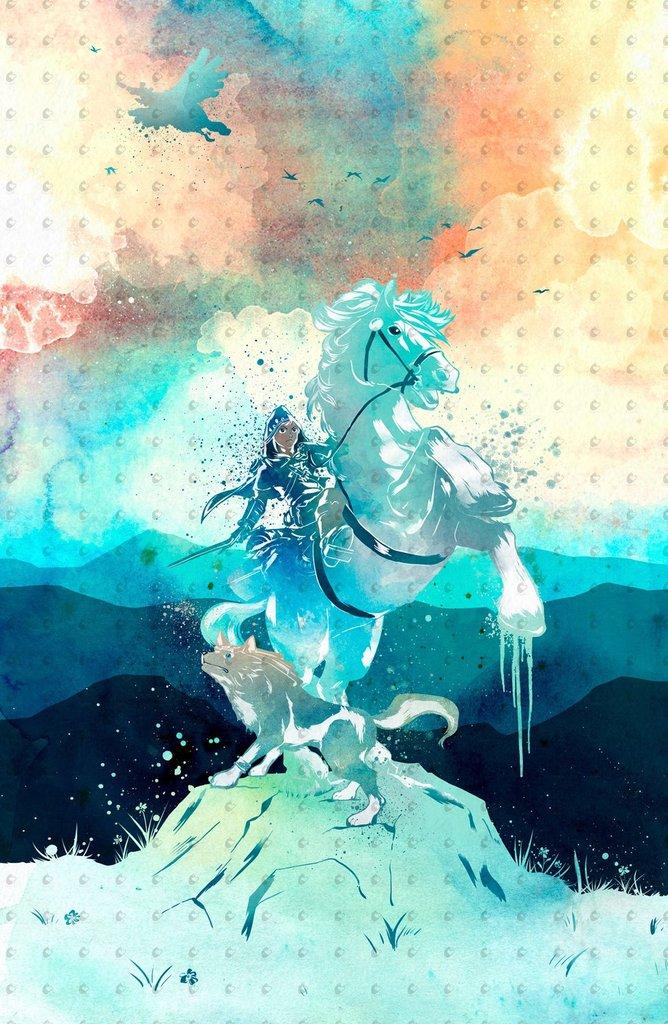 668x1024 Zelda Breath Of The Wild Watercolor Poster Penelopeloveprints